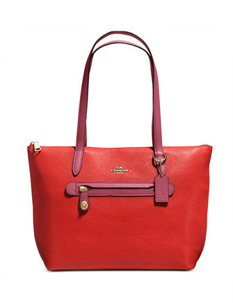 Coach Taylor Tote in Colorblock Pebble Leather
