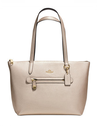 Coach Taylor Tote in Metallic Pebble Leather