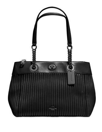 Coach Turnlock Edie Carryall with Quilting