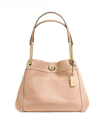 Coach Coach Turnlock Edie Shoulder Bag in Pebble Leather