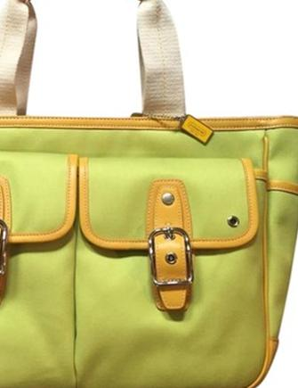 Coach Canvas Twill and Leather Garden Tote