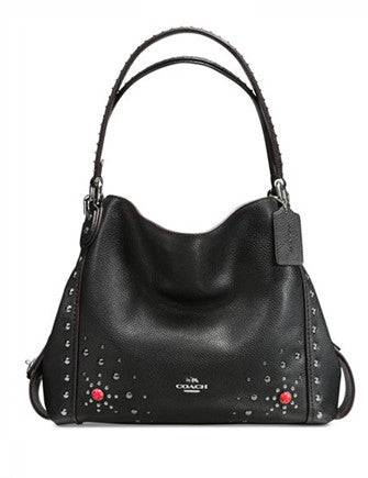 Coach Western Rivets Edie Shoulder Bag 31 in Polished Pebble Leather