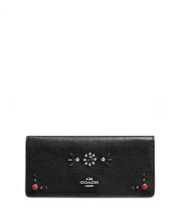 Coach Western Rivets Slim Wallet