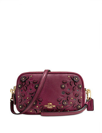 Coach Willow Floral Crossbody Clutch in Pebble Leather