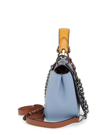 Coach Nomad Top Handle Crossbody in Colorblock Exotic Embossed Leather