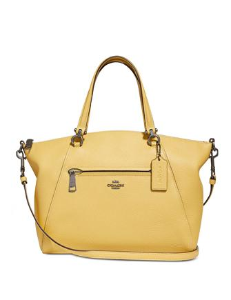 Coach Prairie Medium Satchel in Pebble Leather