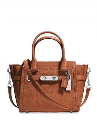 Coach Swagger 21 Pebble Leather Carryall Satchel