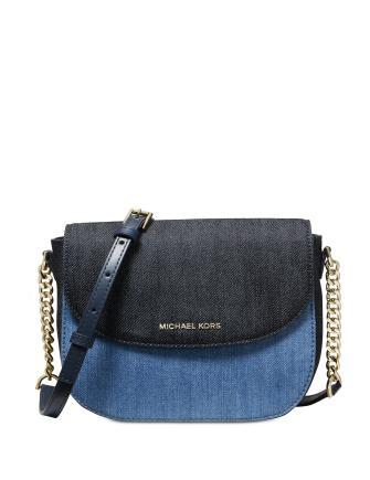 Michael Michael Kors Denim Half Dome Crossbody