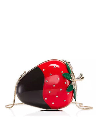 Kate Spade New York Creme de la Dipped Strawberry Clutch