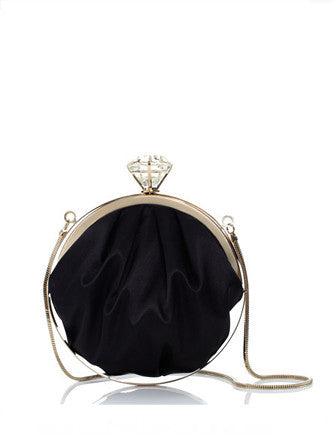 Kate Spade New York Evening Bell Emina Diamond Satin Clutch