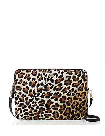 Kate Spade New York Nylon Leopard Laptop Sleeve With Strap