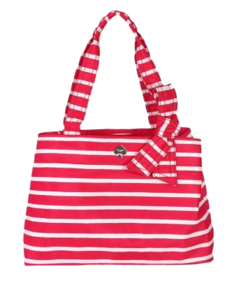 Kate Spade Maryanne Flatiron Striped Nylon Shoulder Bag