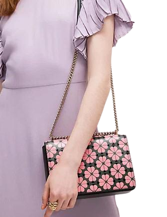 Kate Spade New York Amelia Spade Flower Medium Convertible Chain Shoulder Bag