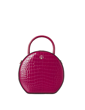 Kate Spade New York Andi Croc Embossed Canteen Bag