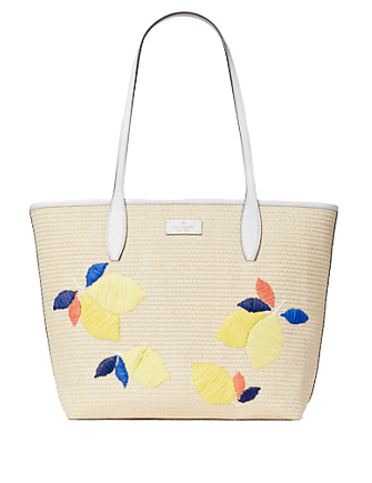 Kate Spade New York Ash Straw Lemon Zest Large Tote