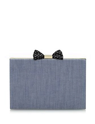 Kate Spade New York Evening Belles Carrie Chambray Bow Clutch