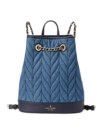 Kate Spade New York Briar Lane Quilted Denim Bucket Backpack
