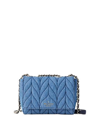 Kate Spade New York Briar Lane Quilted Denim Mini Emelyn Crossbody