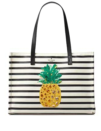 Kate Spade New York By The Pool Canvas Pineapple Mega Sam Tote