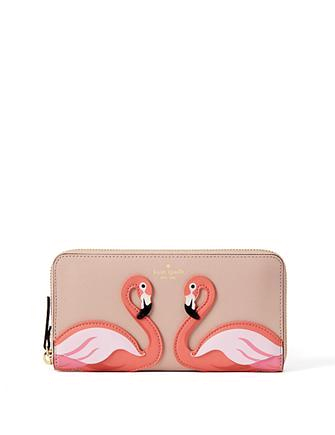 Kate Spade New York By The Pool Flamingo Lacey Wallet