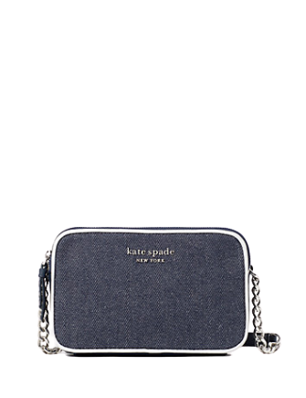 Kate Spade New York Cameron Denim Colorblock Double Zip Small Crossbody