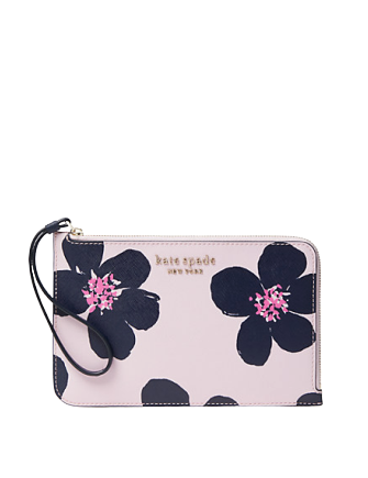 Kate Spade New York Cameron Grand Flora Medium L zip Wristlet Tinie