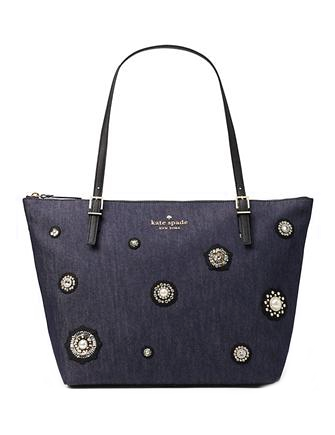 Kate Spade New York Cameron Street Embellished Denim Maya Tote