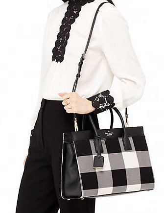 Kate Spade New York Cameron Street Plaid Candace Satchel