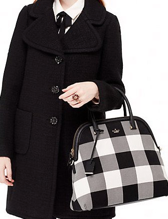 Kate Spade New York Cameron Street Plaid Mega Margot Satchel