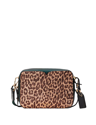 Kate Spade New York Candid Metallic Leopard Medium Camera Bag
