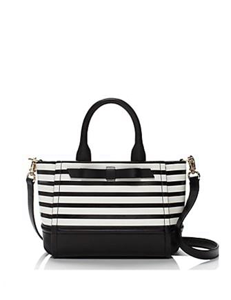 Kate Spade New York Chelsea Park Patent Leather Stripe Gigi Satchel