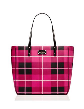 Kate Spade New York Ellison Avenue Sidney Plaid Print Tote