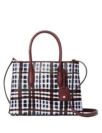 Kate Spade New York Eva City Plaid Small Top Zip Satchel