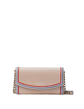 Kate Spade New York Eva Embroidered Wallet On A Chain