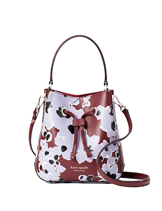 Kate Spade New York Eva Floral Bouquet Small Bucket Crossbody