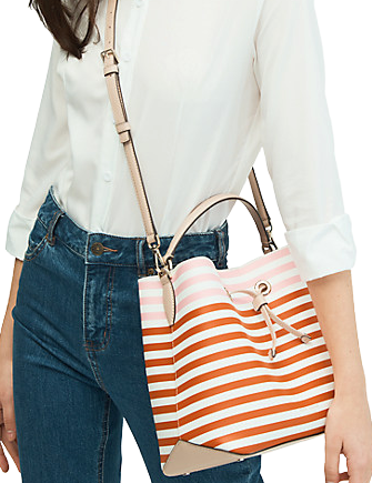 Kate Spade New York Eva Stripe Large Bucket Bag