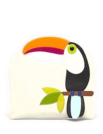 Kate Spade New York Fine Feathers Tansi Parrot Clutch