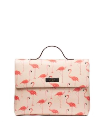 Kate Spade New York Flamingo Lita Shore Street Travel Cosmetic Case
