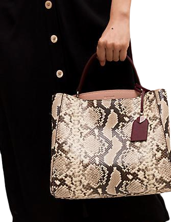 Kate Spade New York Fleur Embossed Snake Medium Top Handle Satchel