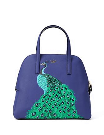 Kate Spade New York Full Plume Peacock Mega Margot Satchel