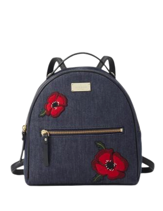 Kate Spade New York Grove Street Denim Poppy Sammi Backpack