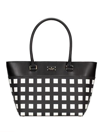 Kate Spade New York Grove Street Pop Art Check Small Margareta Tote