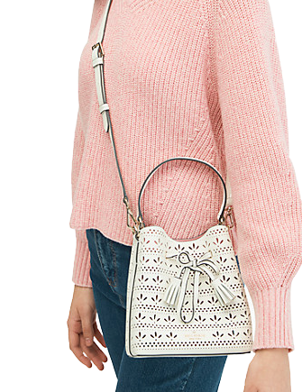 Kate Spade New York Hayes Perf Small Drawstring Bucket
