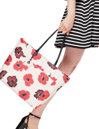Kate Spade New York Hyde Lane Poppies Riley Tote
