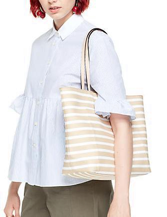 Kate Spade New York Hyde Lane Stripe Riley Tote