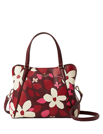 Kate Spade New York Jackson Forest Floral Medium Triple Compartment Satchel