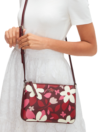 Kate Spade New York Jackson Forest Floral Triple Gusset Crossbody