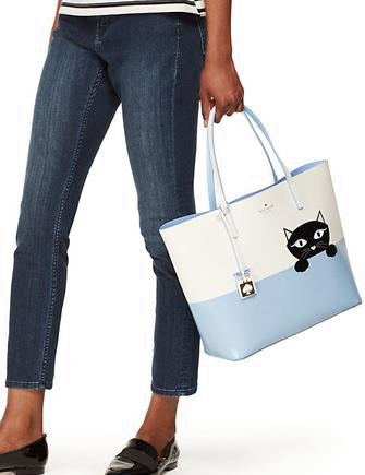 Kate Spade New York Jazz Things Up Little Len Cat Tote