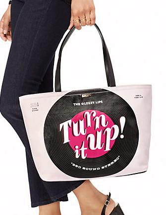 Kate Spade New York Jazz Things Up Record Francis Tote