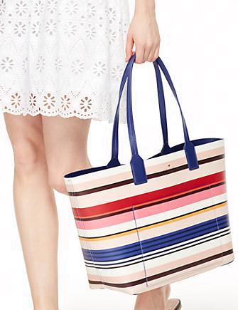 Kate Spade New York Jones Street Stripe Posey Tote